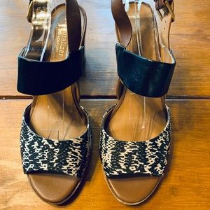 Naturalizer Animal Print Strappy Sandals sz 8W